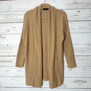 Forever 21 Camel Open Cardigan Sweater